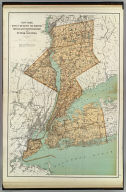 New York, Kings, Queens, Richmond, Rockland, Westchester and Putnam counties. Copyright 1895, Julius Bien & Company, N.Y.