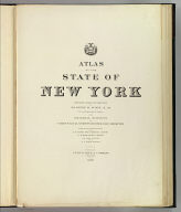Title Page: Atlas New York state.