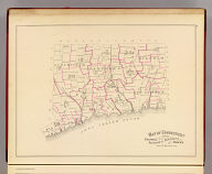 Map of Connecticut showing counties, senatorial districts and towns. (D.H. Hurd & Co., Boston. 1893)