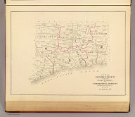 Map of Connecticut showing counties and congressional districts, also population of each town at last census. (D.H. Hurd & Co., Boston. 1893)