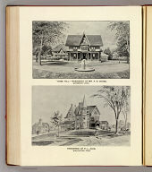 """""""Rose Hill,""""--residence of Mr. A.S. Chase, Waterbury, Conn. F.M. Gilbert '93 (del.) D.H. Hurd & Co., Boston. Residence of H.L. Judd, Wallingford, Conn. H. Billings '93 (del.)"""