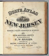 Title Page: Atlas New Jersey.
