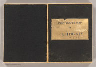 (Covers to) Post route map of the states of California and Nevada, showing post offices with the intermediate distances between them, and mail routes. (Northwest sheet. Washington, D.C., 1901)