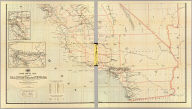 Post route map of the states of California and Nevada showing post offices with the intermediate distances and mail routes in operation on the 1st of June, 1896. (Lower sheets) Published by order of Postmaster General William L. Wilson under the direction of A. von Haake, Topographer, P.O. Dept. (Washington, D.C., 1896)