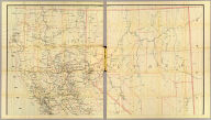 Post route map of the states of California and Nevada showing post offices with the intermediate distances and mail routes in operation on the 1st of June, 1896. (Upper sheets) Published by order of Postmaster General William L. Wilson under the direction of A. von Haake, Topographer, P.O. Dept. (Washington, D.C., 1896)