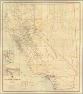 (Composite of) Post route map of the states of California and Nevada showing post offices with the intermediate distances and mail routes in operation on the 1st of June, 1896. Published by order of Postmaster General William L. Wilson under the direction of A. von Haake, Topographer, P.O. Dept. (Washington, D.C., 1896)