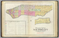 Outline and index map of New York City. Manhattan Island. (By Geo. W. & Walter S. Bromley, civil engineers. Published by G.W. Bromley & Co., 120 Nth. Seventh St., Philadelphia. 1891. Engraved by Rudolph Spiel, 30 N. Fifth St., Phila. Printed by F. Bourquin, 31 S. Sixth St., Phila.)