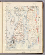 Rhode Island sheet no. 6. U.S. Geological Survey, J.W. Powell, Director. State of Rhode Island ... commissioners. Surveyed in 1885 and 1888. Geo. H. Walker & Co., Boston & N.Y., edition of 1891. For sale by J.C. Thompson, Providence, R.I.