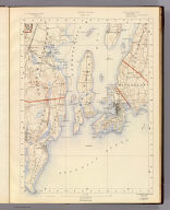 Rhode Island sheet no. 7. U.S. Geological Survey, J.W. Powell, Director. State of Rhode Island ... commissioners. Surveyed in 1888. Geo. H. Walker & Co., Boston & N.Y., edition of 1891. For sale by J.C. Thompson, Providence, R.I.