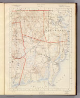 Rhode Island sheet no. 8. U.S. Geological Survey, J.W. Powell, Director. State of Rhode Island ... commissioners. Surveyed in 1888. Geo. H. Walker & Co., Boston & N.Y., edition of 1891. For sale by J.C. Thompson, Providence, R.I.