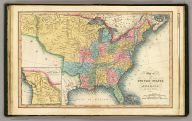 Map of the United States of America, and Nova Scotia &c. &c. London, published Feb. 1, 1832 by I.T. Hinton & Simpkin & Marshall. Engraved & printed by Fenner Sears & Co. -- and Thomas Wardle, Philadelphia. (1832)
