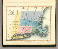 """New England and New York in 1697. From the """"Magnalia americana."""" London: Published Nov. 1, 1830 by I.T. Hinton & Simpkin & Marshall. Engraved & printed by Fenner Sears & Co. (1832)"""