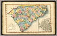 Map of the states of North & South Carolina. (with) Plan of Charleston. London, published June 1 by I.T. Hinton & Simpkin & Marshall. Engraved & printed by Fenner Sears & Co. (1832)
