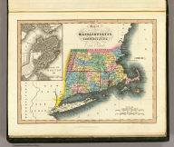 Map of the states of Massachusetts and Connecticut, and Rhode Island. (with) Plan of Boston &c. London, published Feb. 1, 1832 by I.T. Hinton & Simpkin & Marshall. Engraved & printed by Fenner Sears & Co. (1832)