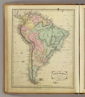South America. Designed to accompany Cornell's High school geography. Entered ... 1855, by S.S. Cornell ... Southern District of New York. New York: D. Appleton & Co., 443 & 445 Broadway. (1864)