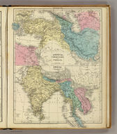 Greece, Turkey in Asia and Persia. India. Entered ... 1856, by S.S. Cornell ... Southern District of New York. New York: D. Appleton & Co., 443 & 445 Broadway. (1864)