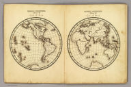 Western Hemisphere ... Eastern Hemisphere drawn by (to be filled in. By George W. Fitch. New York: Sheldon, Blakeman and Company, 115 Nassau Street. Entered ... 1850, by Huntington and Savage ... New York)