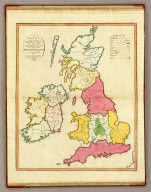A plain map or emblematic chart for the geographical game of the British Islands, according to the method of the Abbe Gaultier. By Mr. Wauthier, his pupil. 1797. Hewitt Sc.
