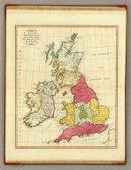 A map of the British Isles, according to the method of the Abbe Gaultier, by Mr. Wauthier, his pupil. 1799.
