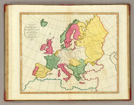 A plain map or emblematic chart for the geographical game of Europe, according to the method of the Abbe Gaultier. By Mr. Wauthier, his pupil, 1797.