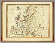A map of Europe, according to the method of the Abbe Gaultier by Mr. Wauthier, his pupil, 1799. Hewitt sc.