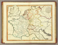 An outline map of the central part of Europe, according to the method of the Abbe Gaultier, by Mr. Wauthier, his pupil. (1821)