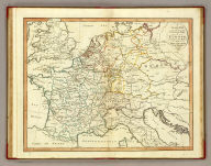 A plain map of the central part of Europe, according to the method of the Abbe Gaultier, by Mr. Wauthier, his pupil. 1799.
