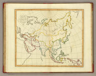 A plain map of Asia, according to the method of the Abbe Gaultier. By Mr. Wauthier, his pupil, 1797.