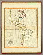 A plain map of America, according to the method of the Abbe Gaultier by Mr. Wauthier, his pupil. 1797.