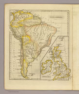 South America. J.W. Barber sc. (with) British Isles. (Published by Richardson & Lord. Sold also by Collins & Hannay, New-York, 1828)