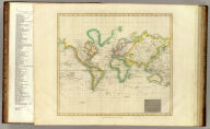 Hydrographical chart of the World on Wright or Mercators projection with tracts of the last circumnavigators. R. Scott sculpt. Drawn and engraved for John Thompson Junr. & Co., Edinburgh, 1814.
