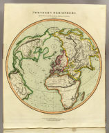 Northern Hemisphere projected on the plane of the horizon of London. By Geo. Buchanan. J. & G. Menzies sculpt., Edinr. Projected & engraved for Thomson's New general atlas, 20th Sept. 1816.