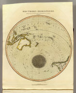 Southern Hemisphere projected on the plane of the horizon of London. By Geo. Buchanan. J. & G. Menzies sculpt., Edinr. Projected & engraved for Thomson's New general atlas, 20th Sept. 1816.