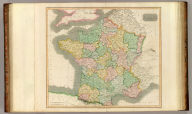 France, in provinces. Kirkwood sculpt. Drawn & engraved for Thomson's New general atlas, 12 August 1814.