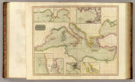 Chart of the Mediterranean Sea. (with) Bay & roads of Marseilles. (with) The harbour of Genoa. (with) Plan of the rock and bay of Gibraltar shewing the position of the combined fleet and attack of the battering ships in 1782. (with) Leghorn Road. (with) Sketch of the watering place of Algeziras. (with) Attack on Algiers by the fleet under the command of Adml. Lord Exmouth, Augst. 27th 1816. (with) Gulf of Smyrna. Neele sculp., Strand. Drawn & engraved for Thomson's New general atlas, 1817.