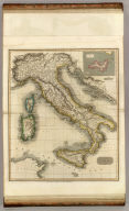 Italy. (with) Island of Elba. R. Scott, sculpt. Drawn & engraved for Thomson's New general atlas, 1814.