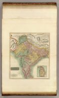 Hindoostan. (with) Isle of Ceylon. J. & G. Menzies sculpt., Edinr. (Drawn & engraved for Thomson's New general atlas, 1817)