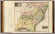 Southern provinces of the United States. (with view) Characteristic scenery of the Hudson River. Hewitt sc., Grafton Str. East, Tottenham Court Rd. Drawn & engraved for Thomson's New general atlas, 1817.