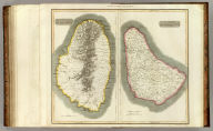 St. Vincent. Barbadoes. West India Islands. Engraved by Kirkwood & Son, Edinburgh. (Drawn & engraved for Thomson's New general atlas, 1817)