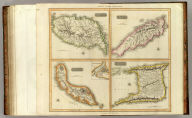 Grenada. Tobago. Trinidad. Curacao. (with) Fort Amsterdam. West India Islands. Neele sc., Strand. Drawn & engraved for Thomson's New general atlas, 1816.