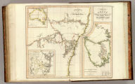 A chart of New South Wales, Van Diemen's Land. Surveys in the interior of New South Wales. (with) Van Diemen's Land, from the most recent authorities and surveys. (with) Part of Australasia. (with) British settlements at Port Jackson, &c. J. Aspin, del. Hewitt sculp., Buckingham Place. (Drawn & engraved for Thomson's New general atlas, 1821)