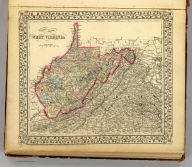 County map of West Virginia. Drawn & eng. by W.H. Gamble, Phila. Entered according to Act of Congress in the year 1872 by S. Augustus Mitchell in the Office of the Librarian of Congress at Washington. (1873)
