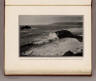 View of the ocean and headlands, north, from the proposed terrace at Cliff House Rocks. (By Daniel H. Burnham. Assisted by Edward H. Bennett. 1905)