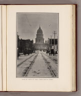 View of the City Hall, from Eighth Street. (By Daniel H. Burnham. Assisted by Edward H. Bennett. 1905)