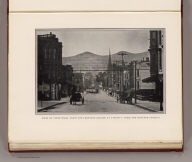 View of Twin Peaks, from the proposed square at Twenty-Third and Howard streets. (By Daniel H. Burnham. Assisted by Edward H. Bennett. 1905)