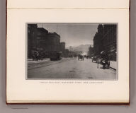 View of Twin Peaks, from Market Street, near Larkin Street. (By Daniel H. Burnham. Assisted by Edward H. Bennett. 1905)