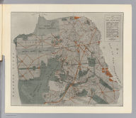 Map of the city and county of San Francisco showing areas recommended as necessary for public places, parks, park connections and highways. Report of D.H. Burnham, Sept. 1905.