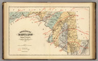 Climatological map of the State of Maryland and the District of Columbia, by Lorin Blodget, 1873. (Published by Stedman, Brown & Lyon, Baltimore. 1873)