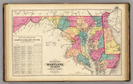 New railroad map of the states of Maryland, Delaware, & District of Columbia.