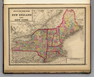 Atlas of the United States. New England and New York. (by H.H. Lloyd. Published by Stedman, Brown & Lyon, Baltimore. 1873)